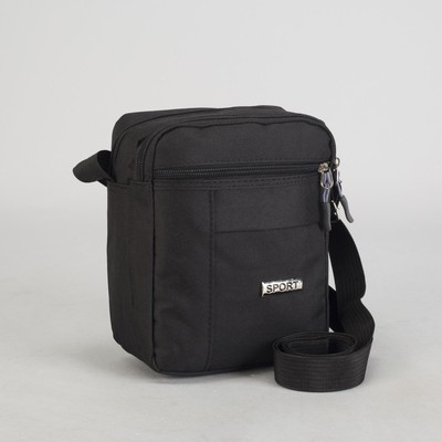 Tablet male, 2 Department zip exterior pocket, adjustable strap, color black