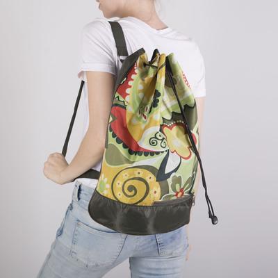 Рюкзак, 1 отдел на стяжке шнурком, цвет светло-зелёный