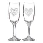 "Набор бокалов для шампанского ""Love"" сердце, 2 штуки"