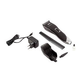 Машинка для стрижки Polaris PHC 2102RC, от АКБ, корпус Soft Touch, черная Ош