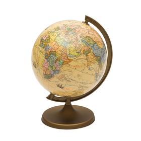 Глобус «Великие путешествия и открытия», диаметр 220 мм, + мини-энциклопедия