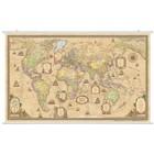 Карта Мир Политическая.Ретро 122*79см 1:25М лам на рейках в пласт тубусе ОСН1234482