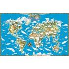 Карта -раскраска Обитатели Земли 90*58см лам в пласт тубусе ОСН1234533