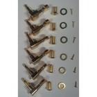 Колки для акуст./электрогитары PAXPHIL J-02-GD позолоченные, 6 в линию