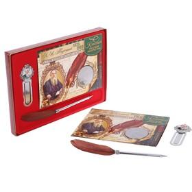"""Подарочный набор """"Л.Н. Толстой"""" ручка+закладка+монета"""