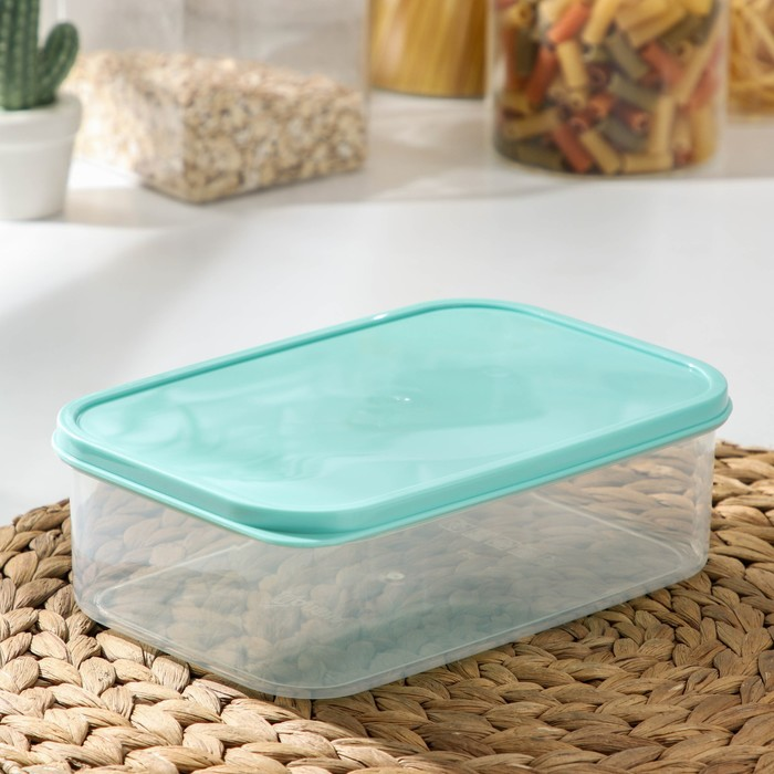 The food container 1.2 l, color turquoise