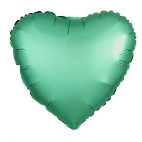 """Шар фольгированный 18"""", сердце, цвет бирюзовый"""