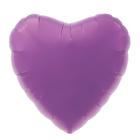 """Шар фольгированный 18"""", сердце, цвет пурпурный"""