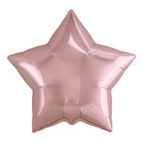 Шар фольгированный 21' звезда, цвет розовое золото Ош