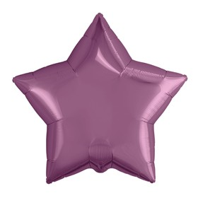 Шар фольгированный 21', звезда, цвет пурпурный Ош