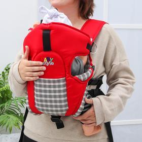 Рюкзак-кенгуру «Томик», 4 положения, от 3 до 12 месяцев, до 12 кг., цвет красный