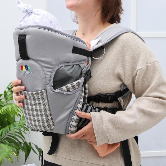 Рюкзак-кенгуру «Томик», 4 положения, от 3 до 12 месяцев, до 12 кг., цвет серый