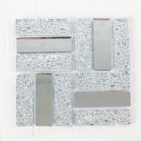Glass mosaic adhesive No. 19, color silver