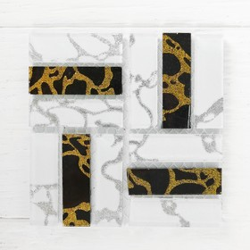 Mosaic glass adhesive, No. 20, white with black