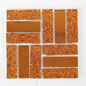 Mosaic glass adhesive, No. 21, copper color