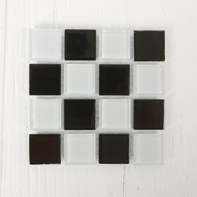 Mosaic glass adhesive, No. 28, color black with white