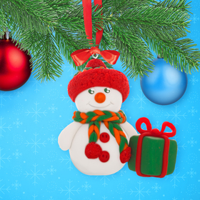 """Christmas toy, Set for sculpting figures """"the Snowman"""" from polymer clay"""