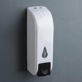 Диспенсер для жидкого мыла механический, 350 мл, цвет белый