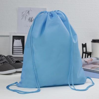 Мешок для обуви, 1 отдел на шнурке, цвет голубой