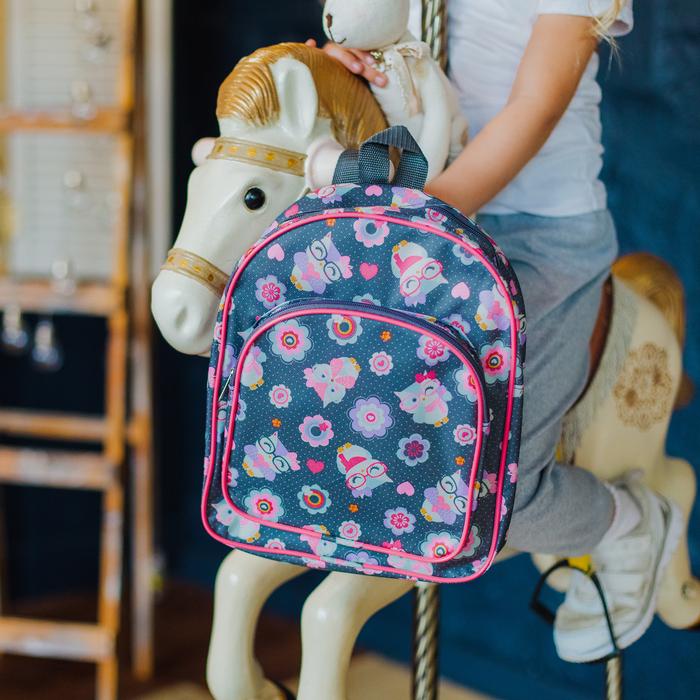 Рюкзак детский, отдел на молнии, наружный карман, цвет серый