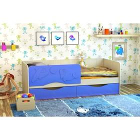 Кровать Дельфин-2 1,9 (МДФ мет) (EZVC045(Синий мет), белфорт)