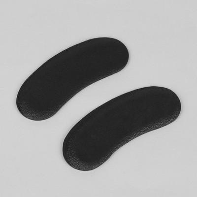 Пяткоудерживатели для обуви, клеевая основа, пара, цвет чёрный