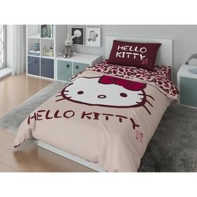 КПБ Hello Kitty 1,5 сп цвет розовый 148х210, 148х215, 50х70,100% хлопок, поплин Ош