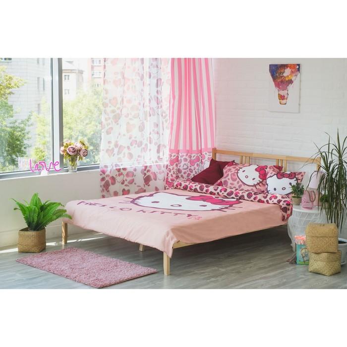 Детское постельное бельё Hello Kitty 1,5 сп, цвет розовый, 148х210, 148х215, 50х70, 100% хлопок