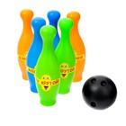 Набор для боулинга «Смайлы»: 6 кегль, 1 шар