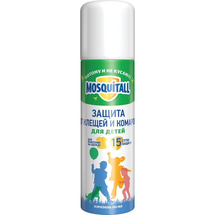 Аэрозоль Mosquitall от клещей и комаров, 150 мл
