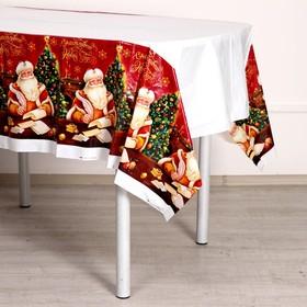 "Tablecloth ""Happy New Year""Santa Claus, 182 x 137cm"