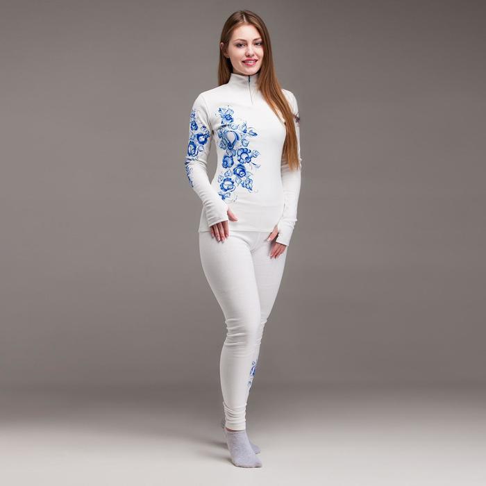 Комплект женский термо (джемпер, лосины), цвет белый, размер 42