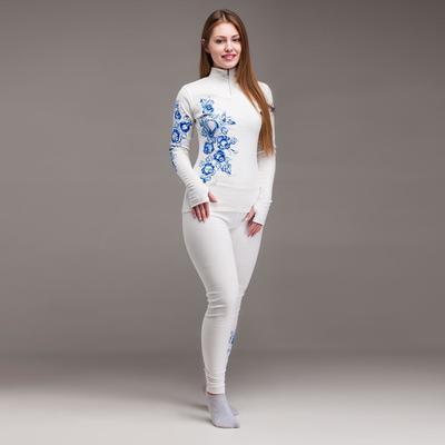 Комплект женский термо (джемпер, лосины), цвет белый, размер 48