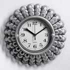 """Wall clock, series: Interior, """"Sun"""", chrome, 26x26 cm"""