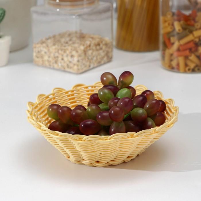 Корзинка для фруктов и хлеба Доляна «Ваниль», 17×17×6 см