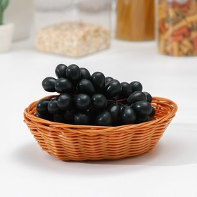 A fruit basket and bread 19x13x6 cm Cappuccino