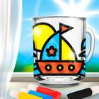 """Stained glass painting mug """"the Ship"""""""