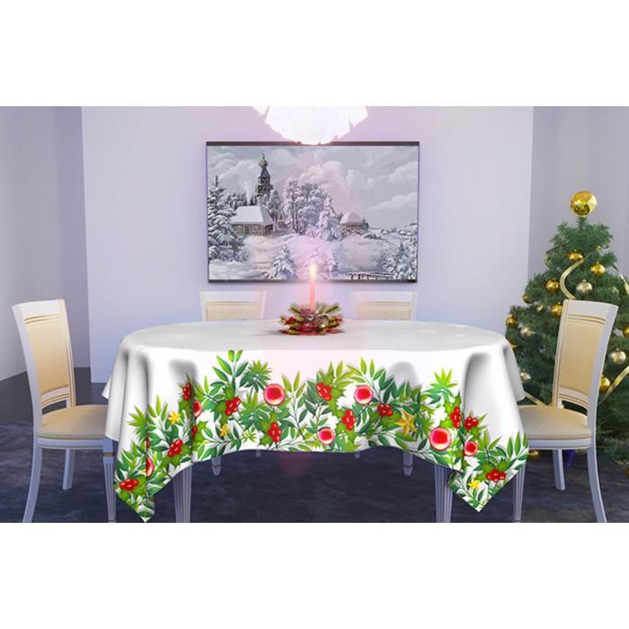 Скатерть «Снег кружит» 145х145 см, габардин