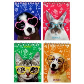 """Notepad A6 40 sheets on the crest Calligrata """"Pets 2"""", coated paperboard"""
