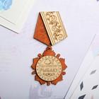 Магнит - медаль «Удачливому рыбаку», 11×5 см