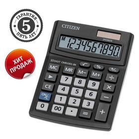 Калькулятор настольный, 10-разрядный, Correct SD-210, двойное питание (CMB1001BK) Ош