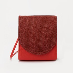 Bag for women, the division for magnet, long strap, color red