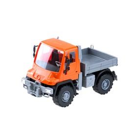 Самосвал бортовой «Мерседес Unimog U 500», 17,5 см, цвет оранжевый