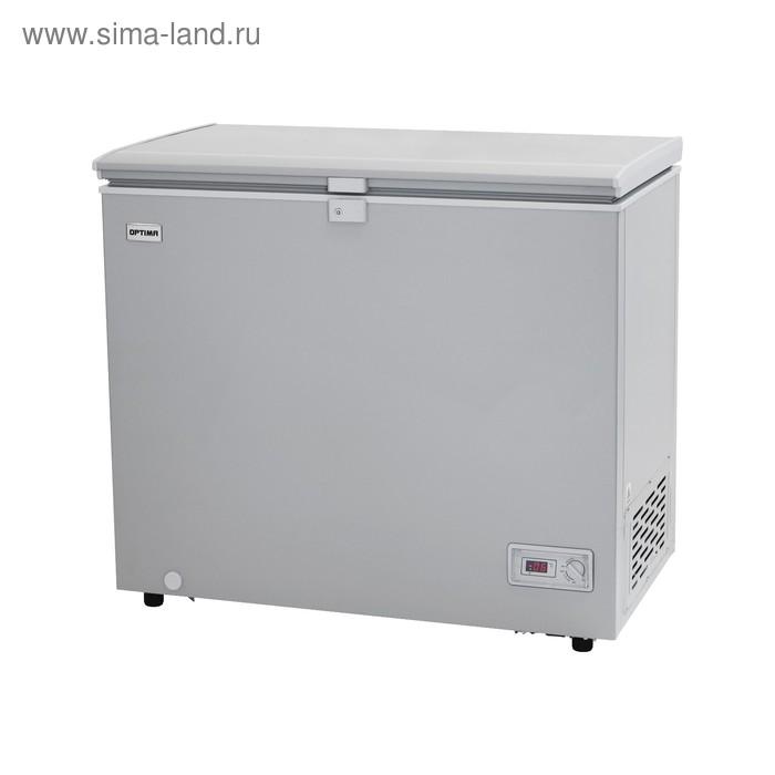 Морозильный ларь Optima BD-230GLG, 212 л, от +5 до -24 °С, 2 корзины, замок, серый