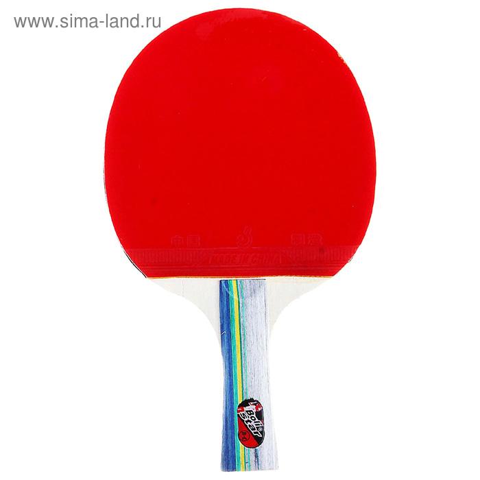 Ракетка для настольного тенниса, тренировочная, 14 мм, 233 гр, в чехле