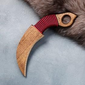 """Сувенирное деревянное оружие """"Керамбит"""", 22 см, массив ясеня"""