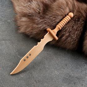 """Сувенирное деревянное оружие """"Нож самурая"""", 31 х 4,5 см, массив бука"""
