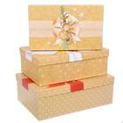 Набор подарочных коробок 3 в 1 «Банты», 25 × 15 × 8,5; 27 × 17,5 × 9,5 ; 30 × 20 × 10,5 см