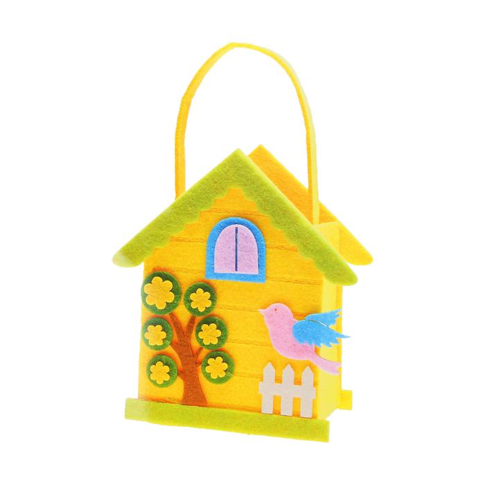 Набор для создания сумочки из фетра «Птенчик на заборе» - фото 691269