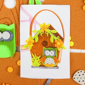 """Set to create handbags from felt """"the Owl in the flowers"""""""
